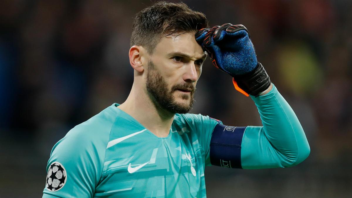 Hugo Lloris, en un partido de Champions con el Tottenham. (AFP)