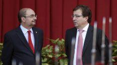 Javier Lambán, presidente de Aragón, y Guillermo Fernández Vara, presidente de Extremadura.