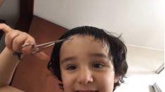 Facebook: El niño peluquero es uno de los virales de este confinamiento