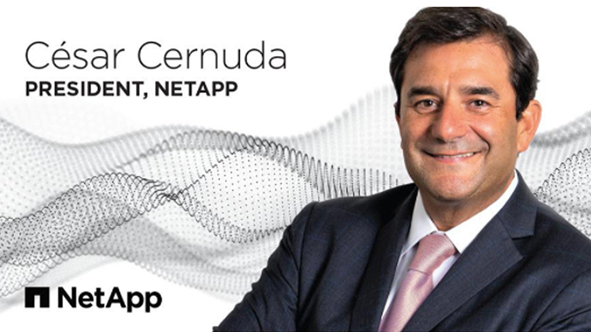 César Cernuda ha sido nombrado nuevo presidente de NetApp.