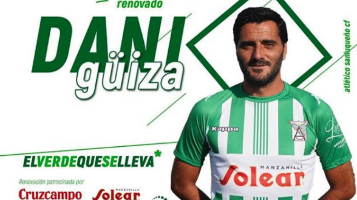 Dani Güiza renueva con el Atlético Sanluqueño.