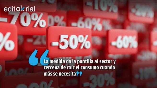 Sánchez prohíbe las rebajas y condena al cierre a miles de establecimientos