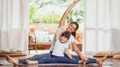 Distintos ejercicios de estiramiento que servirán para aliviar a los niños del estrés