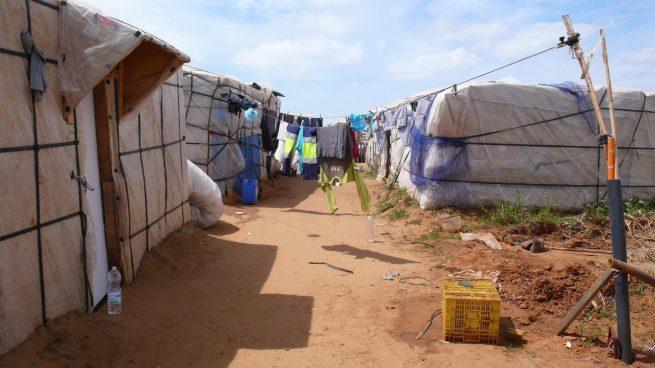 Asentamiento de chabolas.