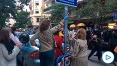 Protestas en la calle Núñez de Balboa.