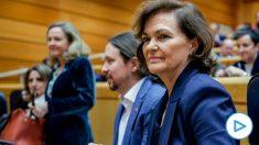 La vicepresidenta primera del Gobierno, Carmen Calvo, en el Senado – Ricardo Rubio – Europa Press – Archivo