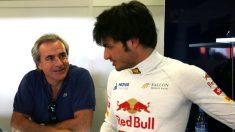 Carlos Sainz junto a su hijo. (Getty)