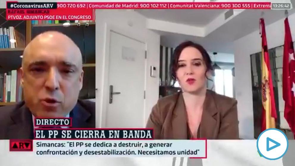 Rafael Simancas (PSOE) en La Sexta: «La cifra de muertos en España es tan alta por la Comunidad de Madrid».