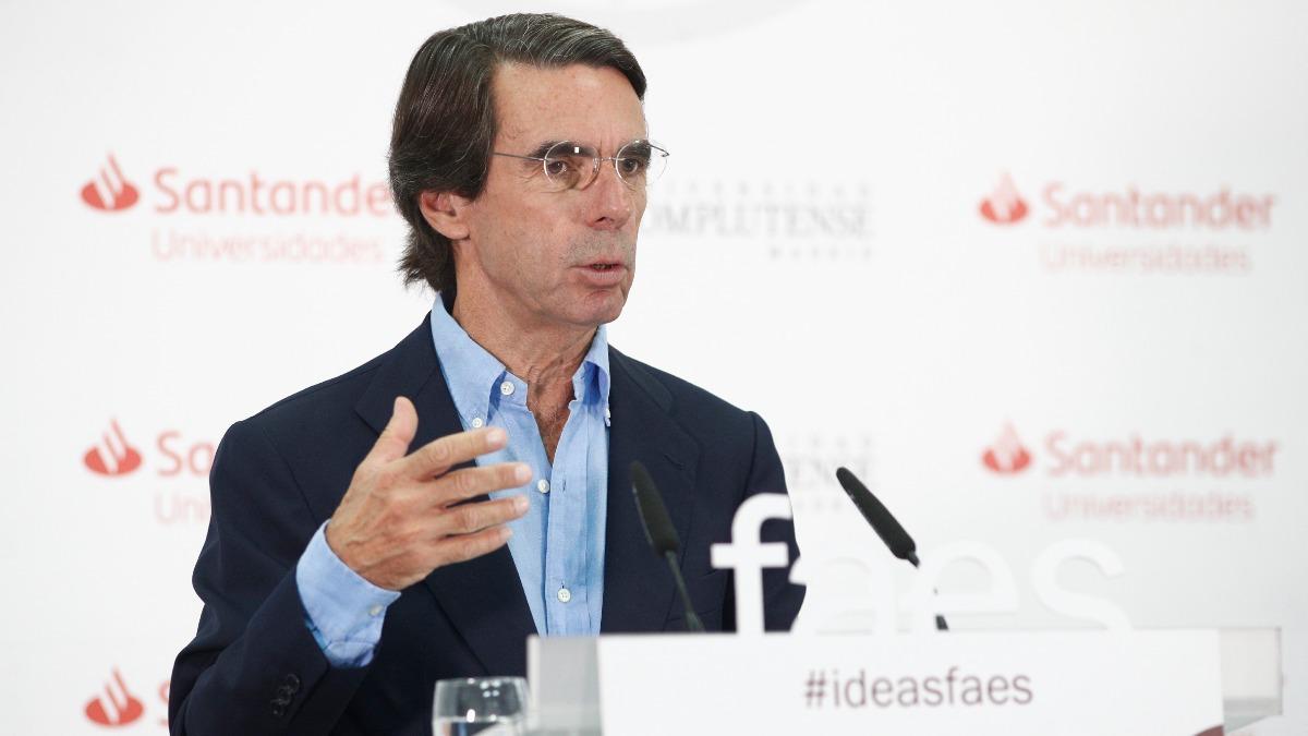 El expresidente del Gobierno y presidente de la Fundación FAES, José María Aznar. Foto: EP