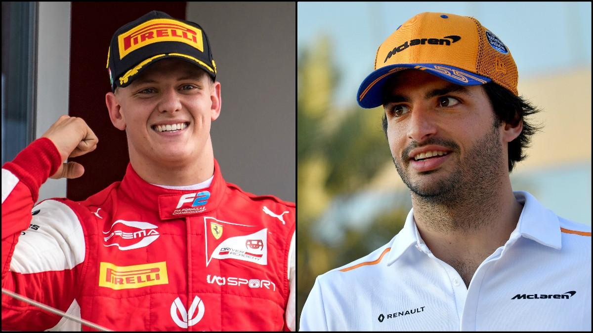 Mick Schumacher y Carlos Sainz. (Fotos: AFP)