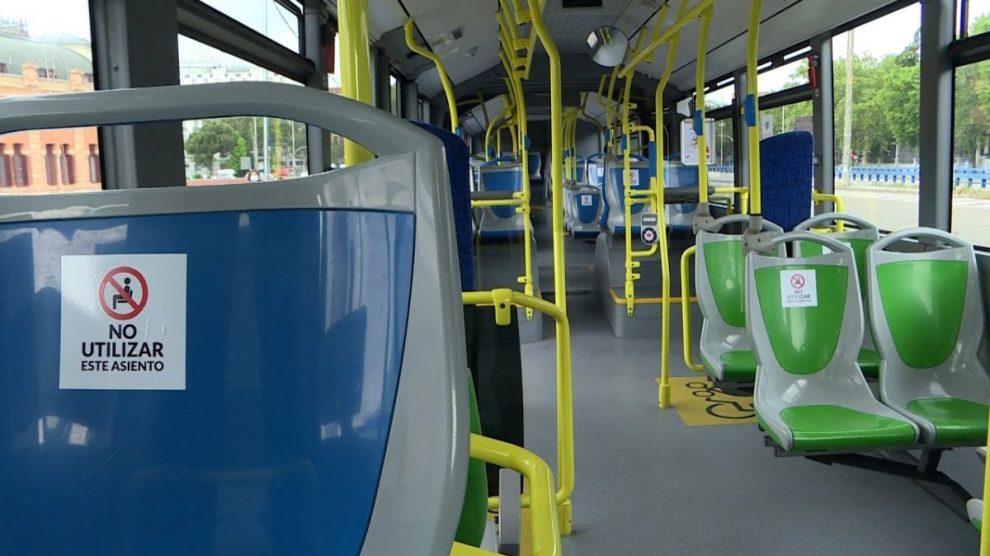 Los autobuses de Madrid se quedarán con un aforo de 34 pasajeros