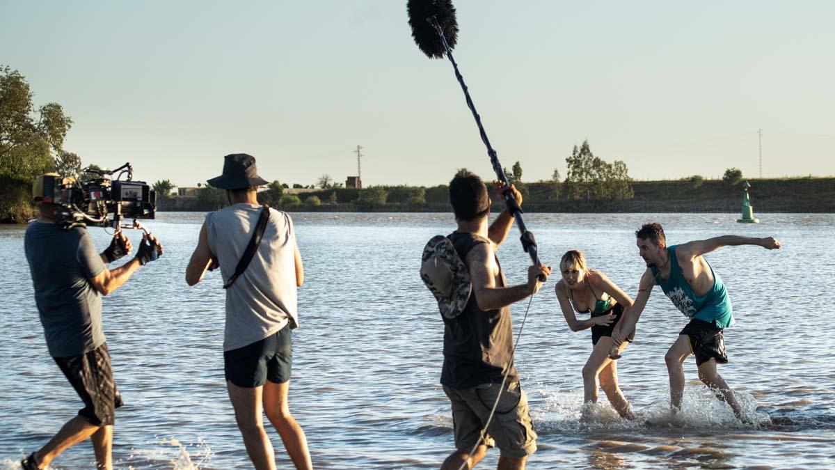 Un momento del rodaje de 'Operación Camarón', cuyo estreno tuvo que cancelarse al declararse el estado de alarma en España. Foto: EP