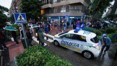Concentración de vecinos del barrio madrileño de Salamanca en la calle Núñez de Balboa. Foto: EP