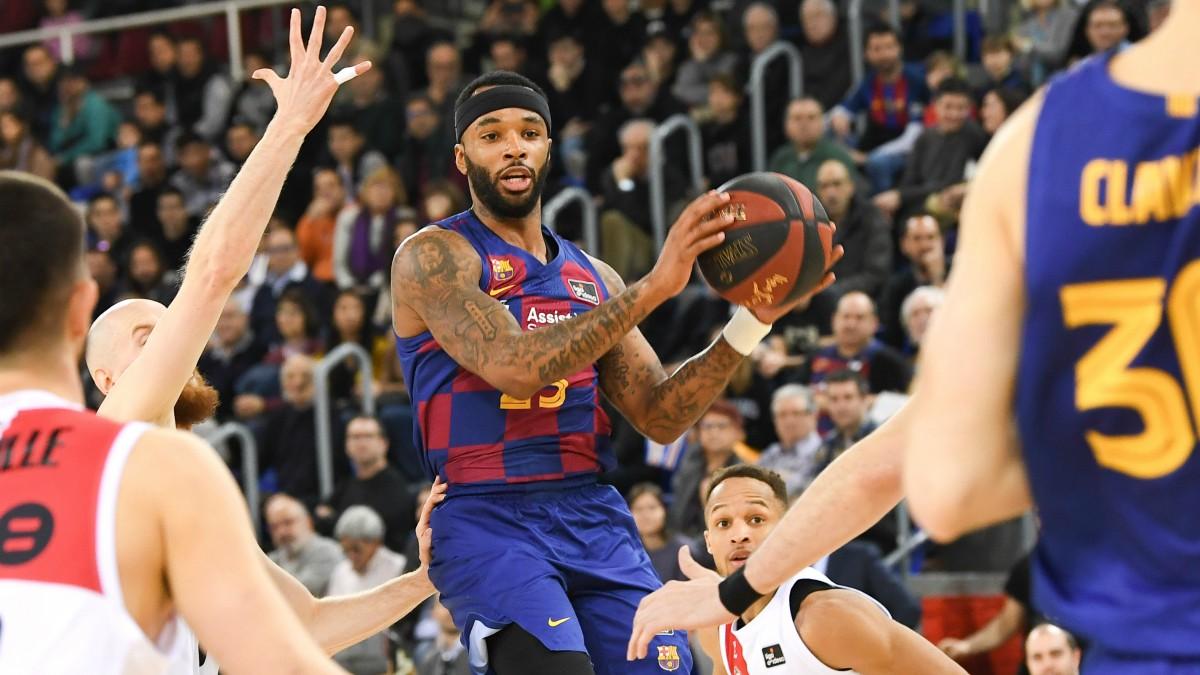 Delaney, en un partido con el Barcelona. (ACB)