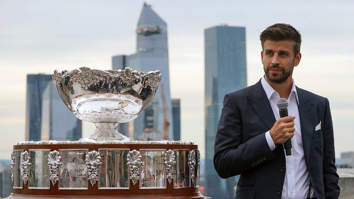 Gerard Piqué, en el evento de presentación de la Copa Davis 2019. (AFP)
