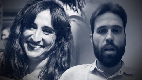 La secretaria general de Podemos en Alcobendas, Isabel Rosa Torralvo, y su novio, Luis Rojo del Olmo.