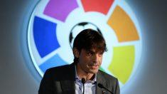 Fernando Morientes, en un acto con la Liga. (AFP)