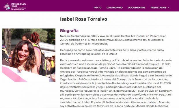 Isabel Rosa Torralvo Podemos