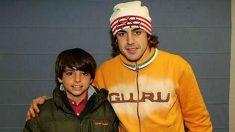 Carlos Sainz, de niño, y Fernando Alonso.
