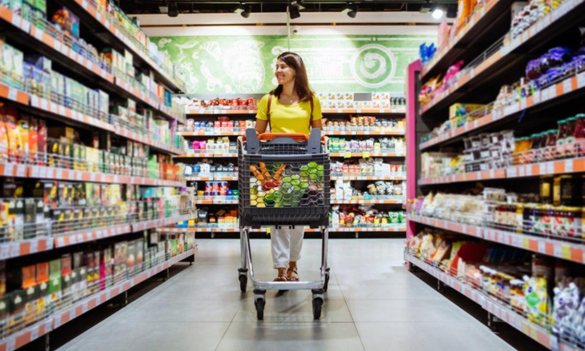 Carro de la compra en un supermercado.
