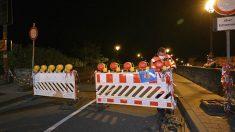Frontera entre Alemania y Luxemburgo, cerrada a causa del coronavirus.