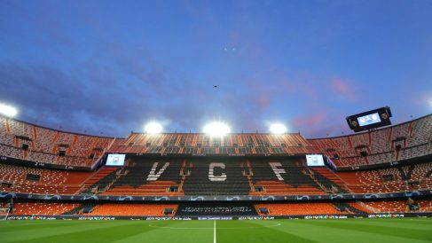 Estadio de Mestalla sin aficionados. (Getty)
