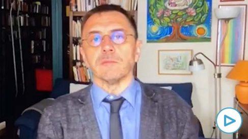 Juan Carlos Monedero en su programa de televisión