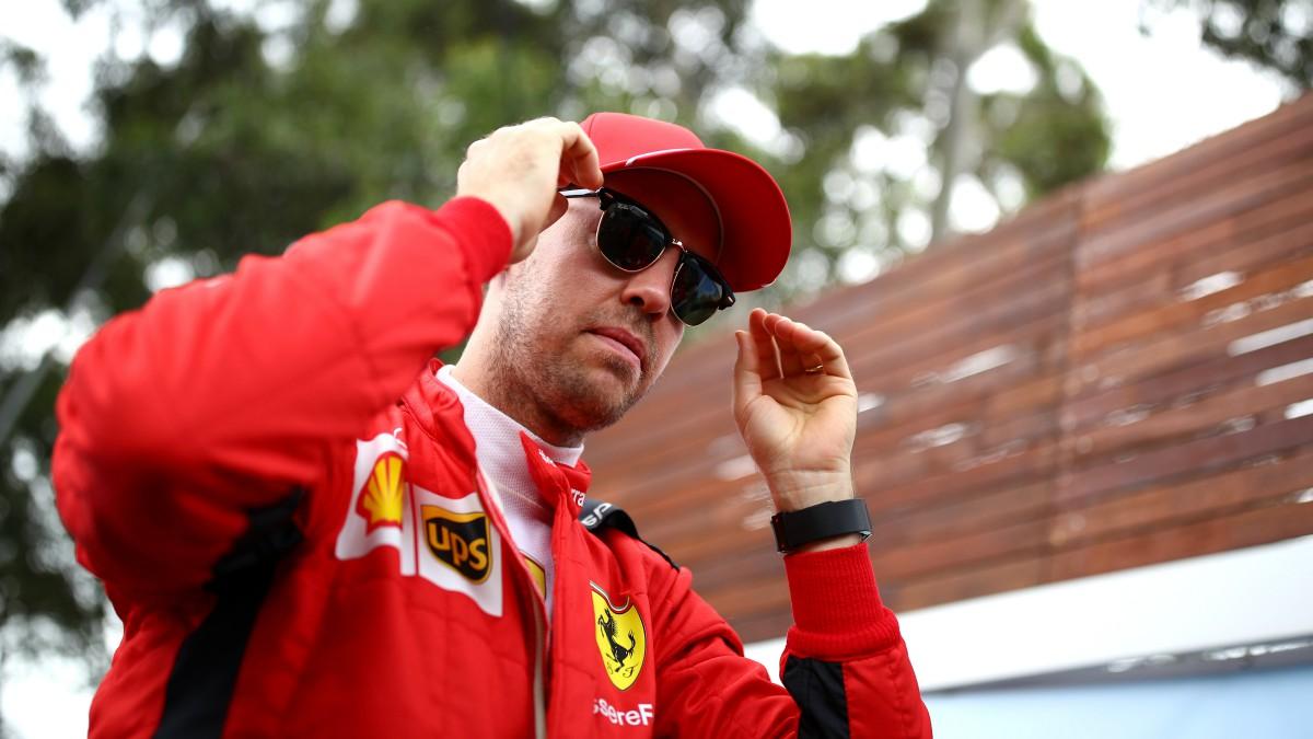 Sebastian Vettel, con Ferrari. (Getty)