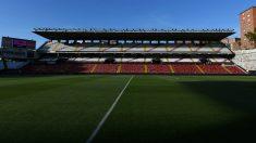 Una imagen del estadio de Vallecas vacío. (Getty)