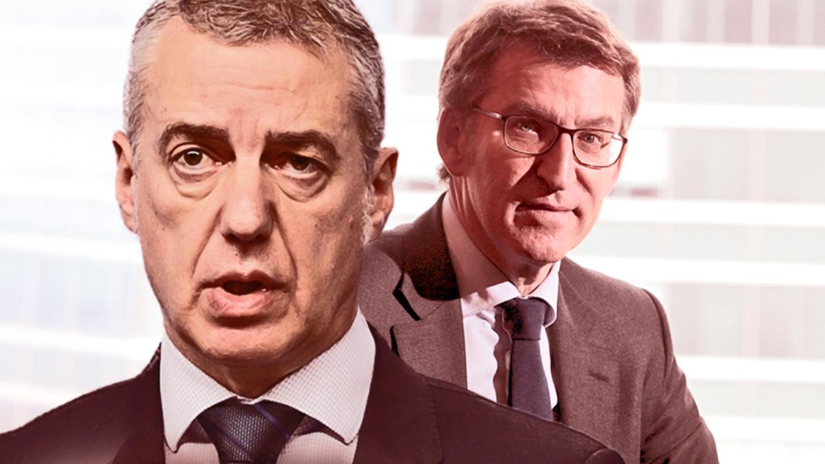 El lehendakari Iñigo Urkullu y Alberto Núñez Feijóo, presidente de la Junta de Galicia.