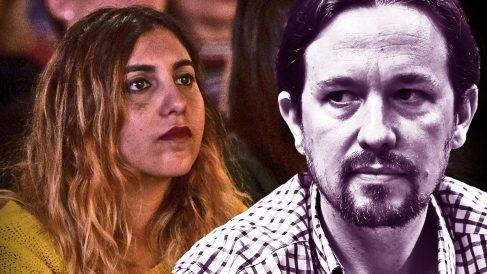 Pablo Iglesias y Dina Bousselham