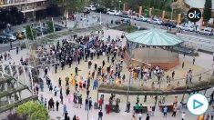 Los saboteadores de la cacerolada de Alcorcón no respetaron la distancia social, los manifestantes sí.