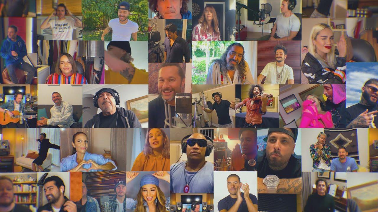 Así es la nueva versión de la canción 'Color Esperanza' interpretada por Dani Martín y Nicky Jam entre muchos otros cantantes