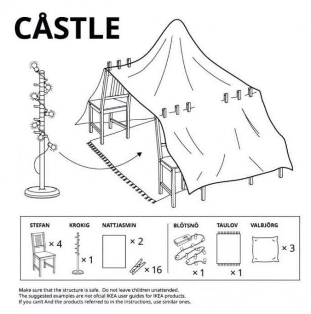 IKEA crea unas instrucciones para poder hacer estructuras en casa con los niños