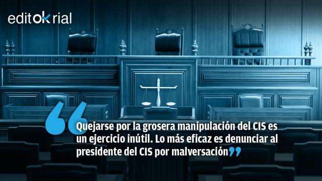 ¿A qué esperan PP y Vox para llevar a Tezanos a los tribunales?