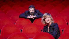 El actor Antonio Banderas y la periodista María Casado. Foto: EP