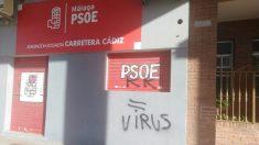 Málaga.- El PSOE denuncia pintadas en su sede en Carretera de Cádiz: «Una muestra de la intolerancia de los radicales»