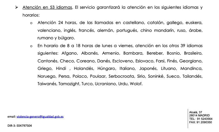 Montero exige a la empresa del 016 que atienda en 53 idiomas: soninké, urdu, wolof o tamazight