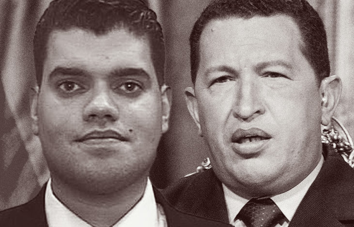 Rafael Reiter y Hugo Chávez.