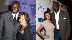 Michael Jordan, con sus dos esposas, Juanita e Yvette.