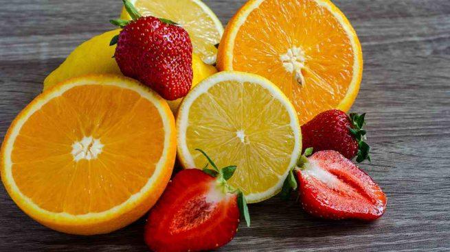 Fresones con melón y naranja
