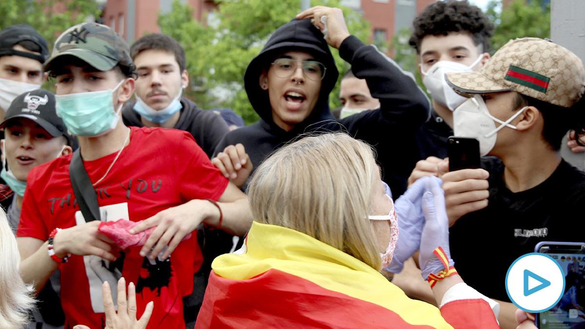 Enfrentamientos en Alcorcón. (E. Falcón)