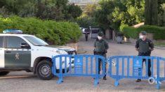 El dispositivo de la Guardia Civil que cortó la calle de Pablo Iglesias.
