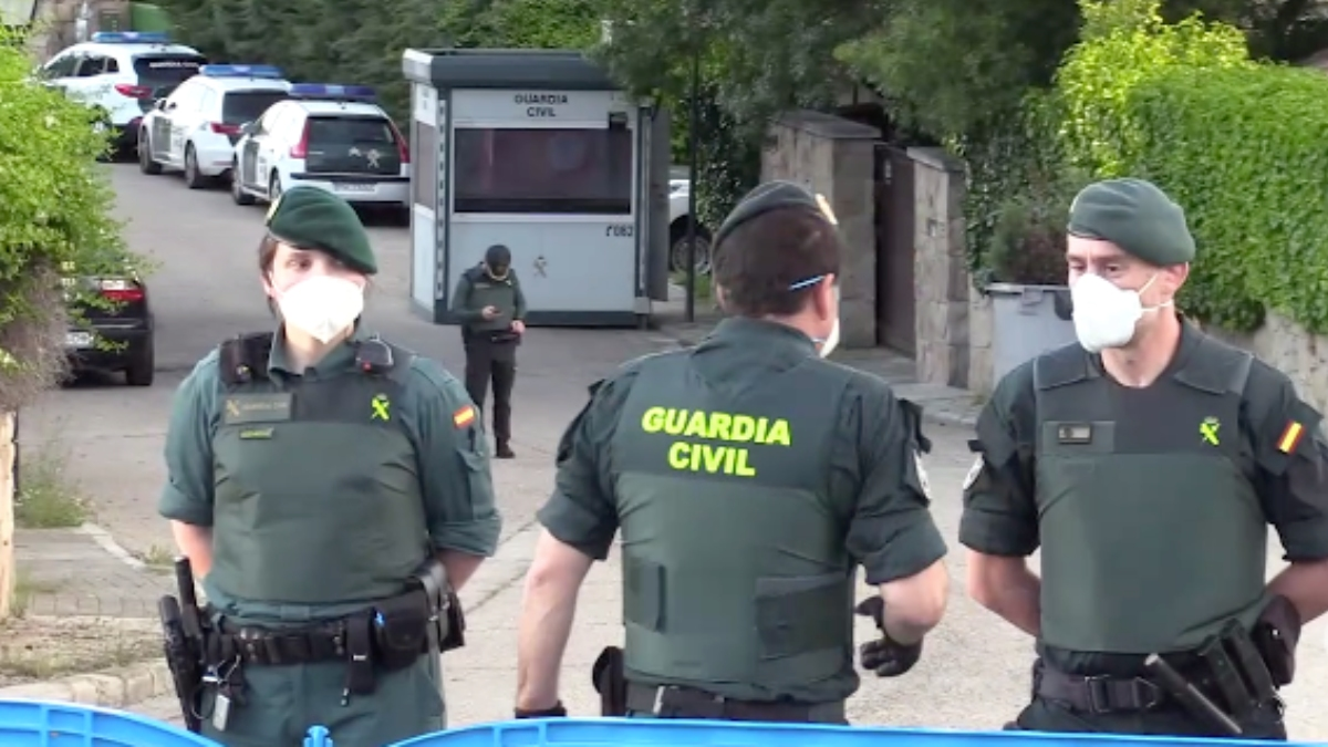 Operativo de seguridad de la Guardia Civil.