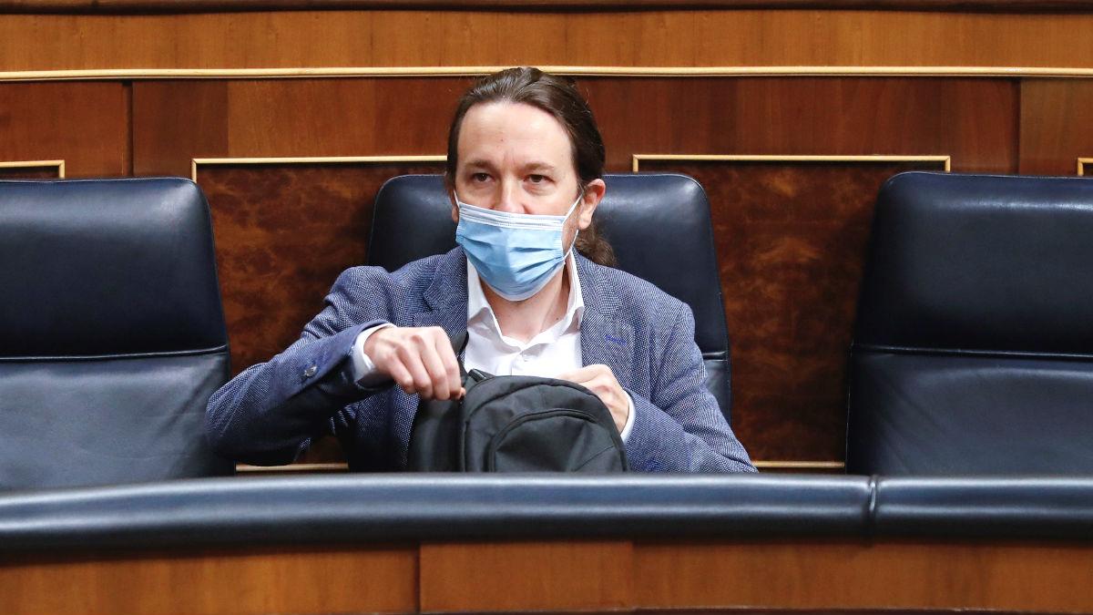Pablo Iglesias en el Congreso de los Diputados. (Foto: Europa Press)