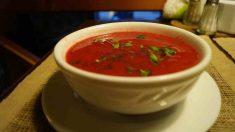 Receta de Crema fría de tomate y melón