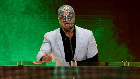 Rey Mysterio, en un evento de la WWE. (AFP)