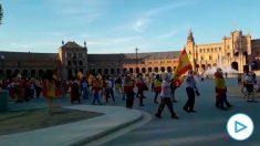 Manifestación contra Pedro Sánchez en Sevilla.