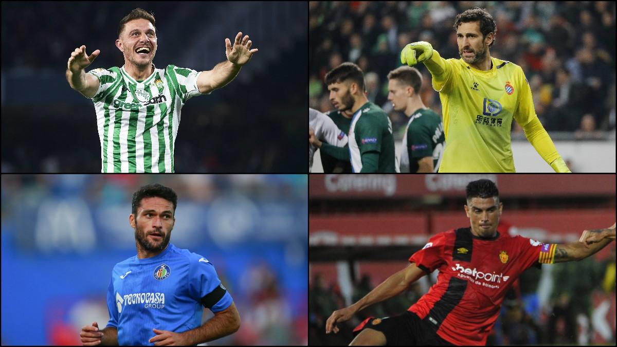 Joaquín, Diego López, Jorge Molina y Xisco Campos son los 'abuelos' de la Liga.