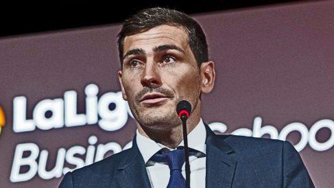 Iker Casillas, en un acto con la Liga.
